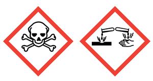 Kemikalier frätande giftiga Fluorvätesyra kalcium Hexafluorine spolvätska ögonskölj Första Hjälpen derivat