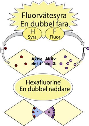syra fräta hudlagret giftiga Fluoridjon kelatera fluoridjonen Diphoterine polyvalent kemikalie hyperton kemikalie vävnaden Hexafluorine basiska kemikalier