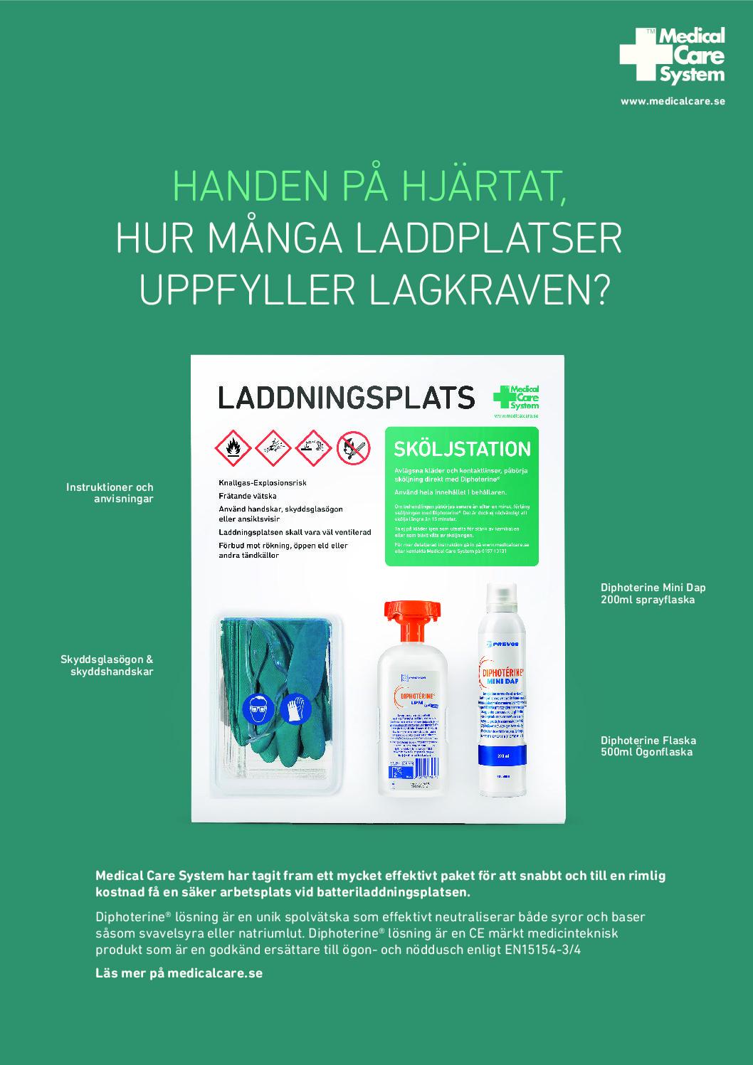 Medical Care System Laddplatstavla