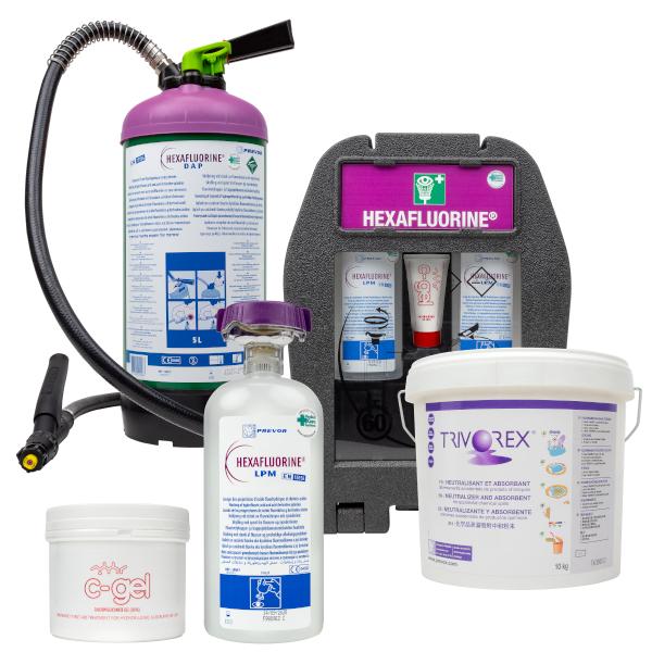 hexafluorine ögonskölj ögondusch spolvätska fluorvätesyra HF kemikalier kemikalie