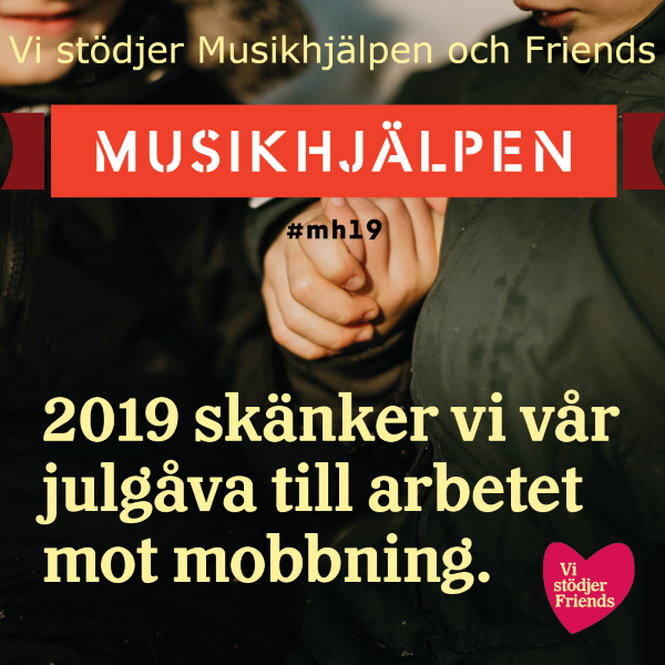 jul skänker Medical Care System välgörenhet Musikhjälpen 2019 mh19 Friends