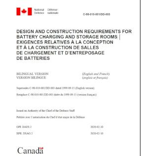 Ny kravstandard för batteriladdplatser och batteriförvaringsrum i Kanada 2020